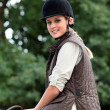 Teen riding horse — Stock Photo #9320115