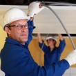 Electricians at work — Stock Photo #9321665