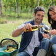 Stock Photo: Winegrowers tasting wine