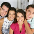 Two couples at home — Stock Photo