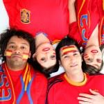 Spanish football fans — Stock Photo #9324996