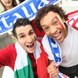 Group of Italian football supporters — Stock Photo