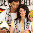 Disappointed Germany fans — Stock Photo
