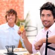 Dinner with champagne — Stock Photo #9325994