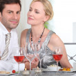 Intimate dinner with your partner — Stock Photo