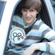 Stock Photo: Teenager driving