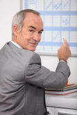 Mature man in office — Stock Photo