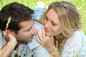 Couple staring at each other — Stock Photo