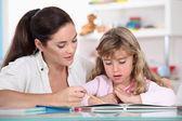 家庭作业 — 图库照片