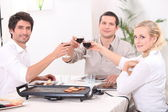 Convivial meal — Stock Photo