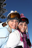 Girls in ski-wear — Stock Photo