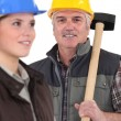 Construction workers — Stock Photo #9579051