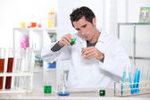 Student in laboratory — Stock Photo