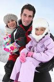 Aile içinde belgili tanımlık kar — Stok fotoğraf
