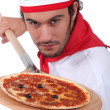 Pizza chef — Stock Photo