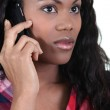 African woman with mobile phone — Stock Photo #9584615