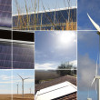Montage of renewable energy sources — Stock Photo