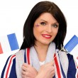 A patriotic woman - Stock Photo