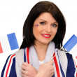 Stock Photo: A patriotic woman
