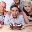 Family celebrating birthday — Stock Photo