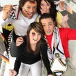 Group of german supporters — Stock Photo #9587757