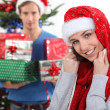 She gets way too much presents. — Stock Photo #9587821