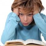 Stressed school kid — Stock Photo