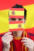 Spanish football supporter — Stock Photo