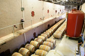 Large barrel storage facility — Stock Photo