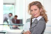 Businesswoman walking to her meeting — Stock Photo
