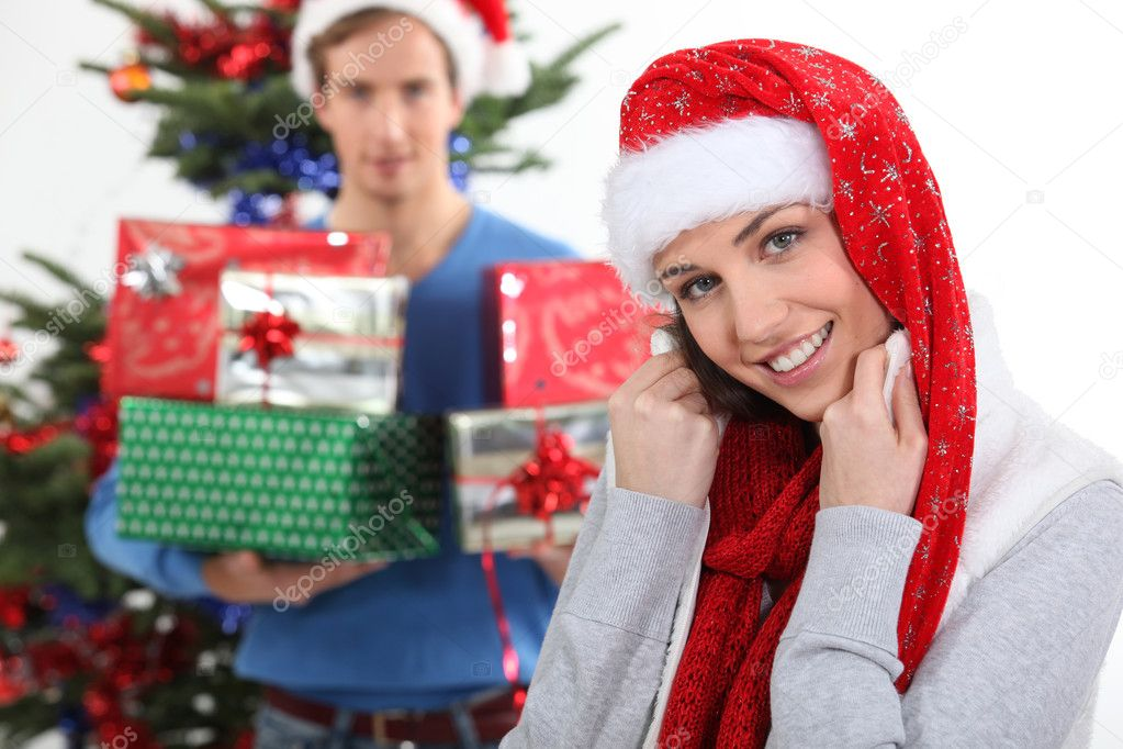 She gets way too much presents.  Stock Photo #9587821