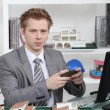 An architect working in his office — Stock Photo