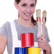 Woman painter - Stock Photo