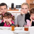 Angry family — Stock Photo