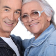 Close-up shot of an elderly couple — Stock Photo #9593769