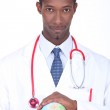Doctor holding a globe — Stock Photo
