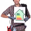 Stock Photo: Smiling electrician