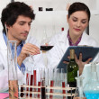 Stock Photo: Analysis laboratory of wines