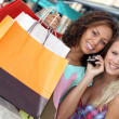 Young women shopping — Stock Photo #9599412