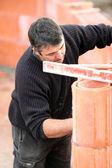 Bricklayer at work — Stock Photo