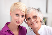 Woman with her mother — Stock Photo