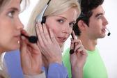 Hotline service. — Stock Photo