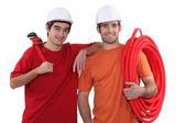 A team of tradesmen — Stock Photo