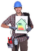 Smiling electrician — Stock Photo