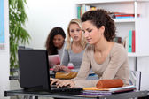 Girls in a classroom — Stock Photo