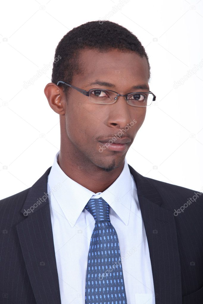 Young African American businessman — Foto Stock #9593399