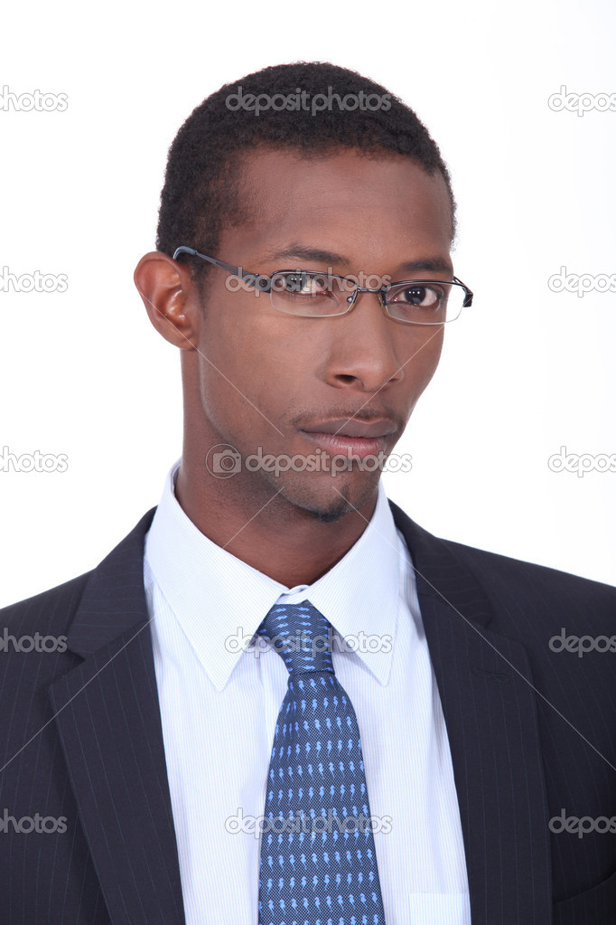 Young African American businessman — Stock fotografie #9593399