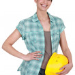 Stock Photo: Female manual worker
