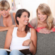 Roommates in their living room — Stock Photo