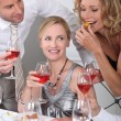 Dinner with wine — Stock Photo